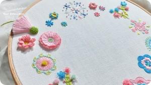基礎刺繡┋煦色韶光花園-基礎到進階立體型針法共13種&靈活運用-雙週兩日課程【實體課程】